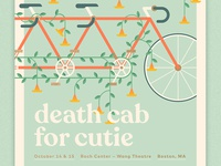Death Cab for Cutie - Boston Poster