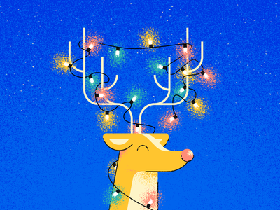 Merry Christmas! grain rudolph antlers lights christmas reindeer