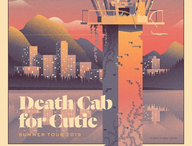 Death Cab for Cutie Summer Tour Poster - Variant