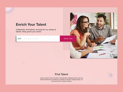 Find Talent web design ui design