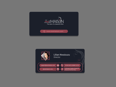 Complimentary Card For a Fashion House ui design vector branding design