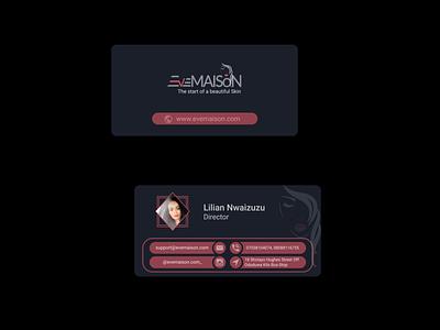 Complimentary Card For a Fashion House ui design vector branding design