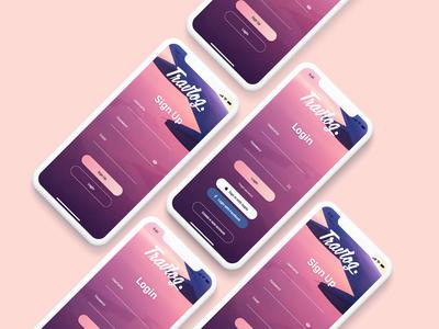 TravLog - Login & Sign Up / App UI Design