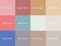 Paul Smith Colour pallete