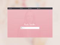 Paul Smith - Search screen