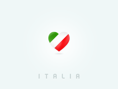 Italy with love icon interface design app application design ux