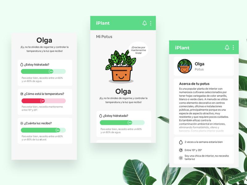 Iplant app dashboard plant app vector design illustration uxui ui  ux uidesign ui design ui ux design uxdesign ux