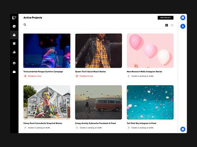 Active Projects product design vidmob animation agile creative studio web video design ui