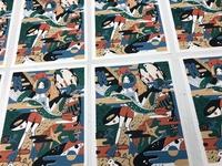 "silkscreen printing ""adventure"" edition of 8"