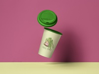Coffee Cup Package Mockup - Midea Family: Spring
