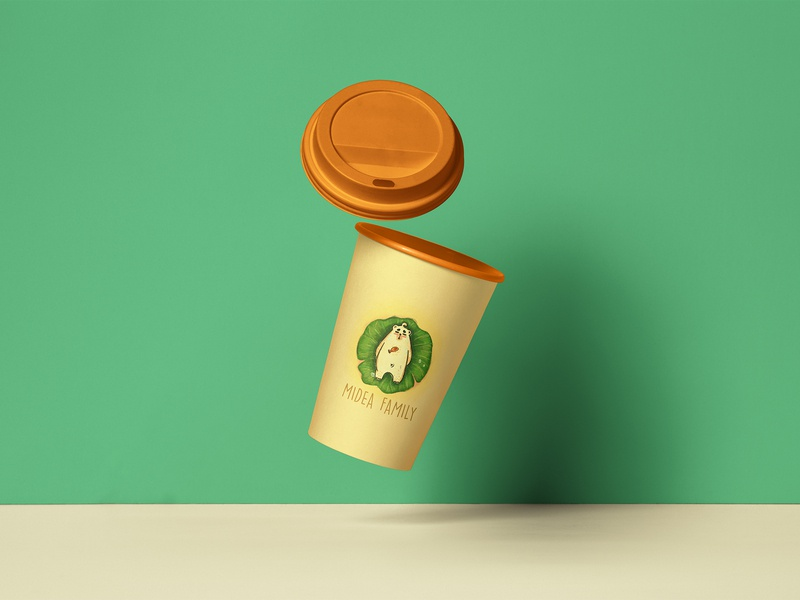 Coffee Cup Package Mockup - Midea Family: Summer package mockup package design adobe photoshop illustration design
