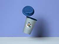 Coffee Cup Package Mockup - Midea Family: Winter