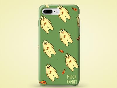 Phone Case Design Mockup - Midea Bear