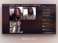 Blab For tvOS On Air UX