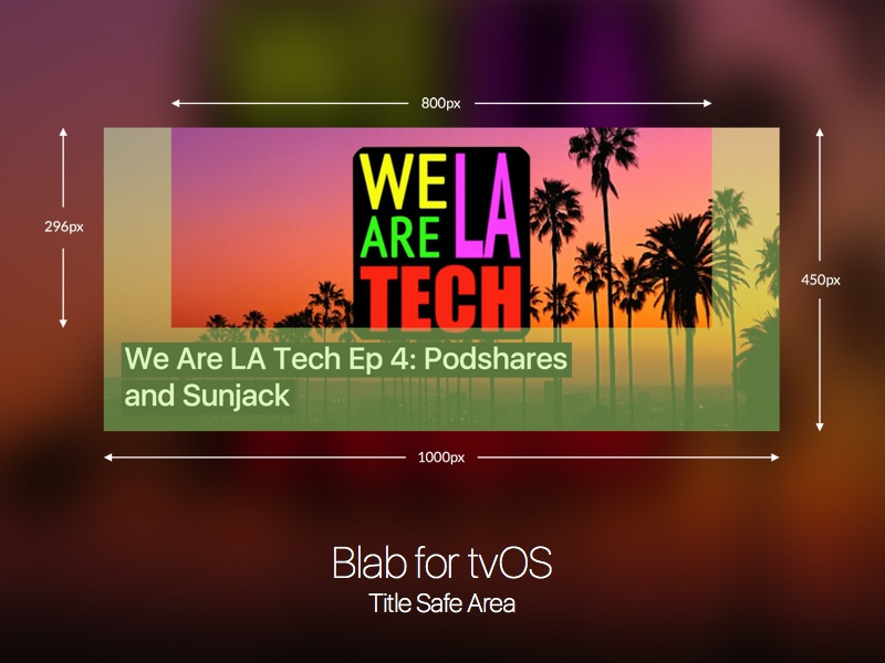 Blab for tvos title safe area