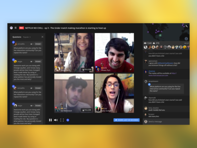 Blab - Live Experiments permission notifications discovery find people live stream live streaming web blab