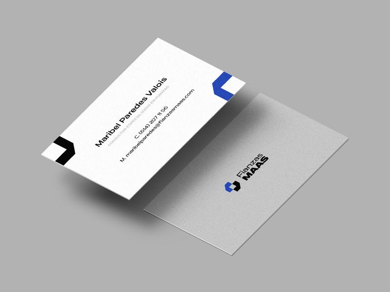 Fianzas Maas | Branding (2) business cards mockup identidad logotipo design identity logo branding