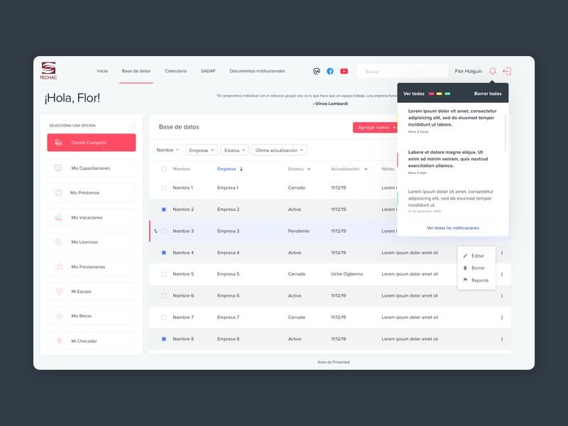 FECHAC Intranet | Platform (2) intranet platform concept ux ui design