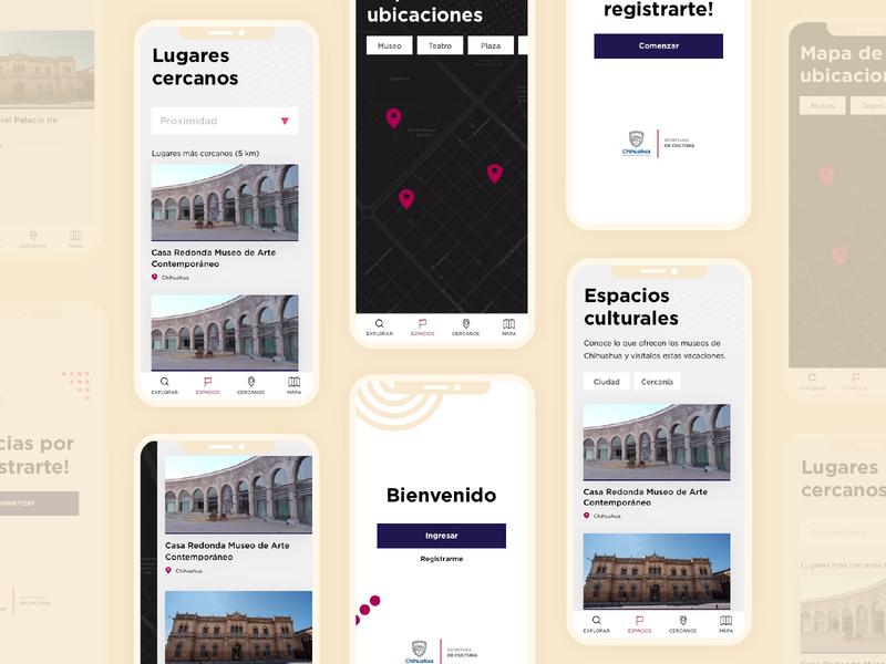 Secretaría de Cultura | App ministry government culture visual design app design app ui ux identity design