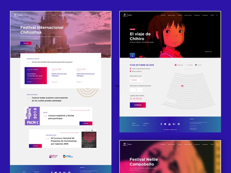 Secretaría de Cultura | Website government culture ministry concept web design website ux ui branding design