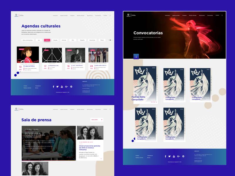 Secretaría de Cultura | Website (2) culture ministry government web design web concept ui ux branding design