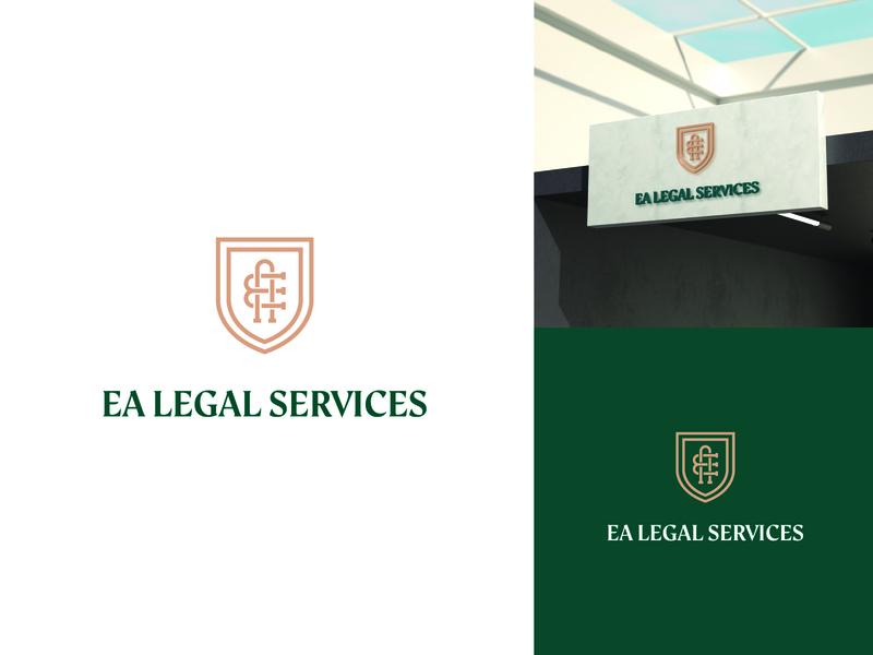 EA Legal Services | Branding logotipo identidad mockup identity logo design branding