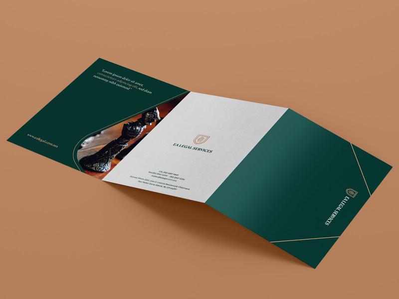 EA Legal Services | Branding (3) brochure vector mockup identidad logotipo identity logo branding design