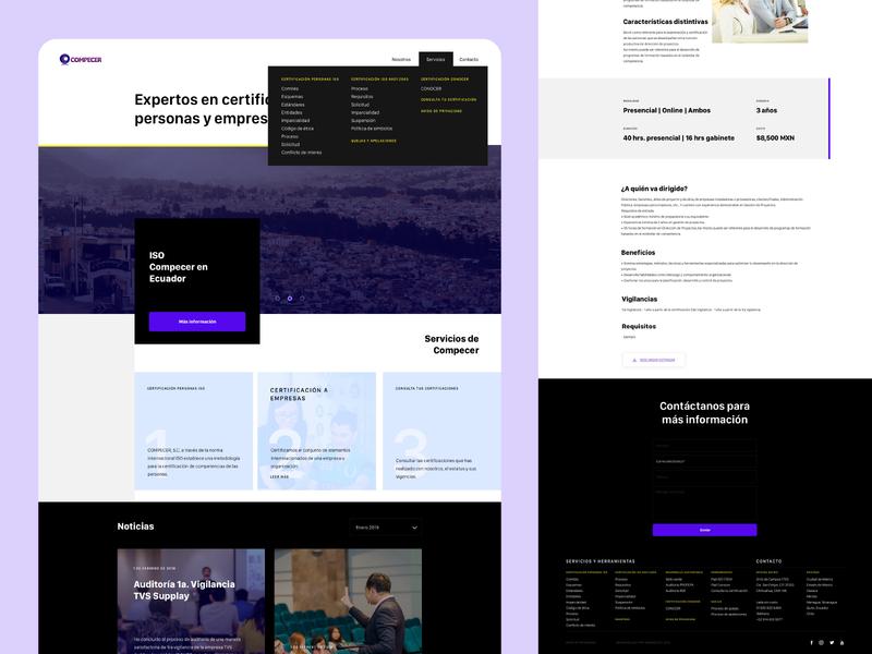 Compecer | Website website design website ui design
