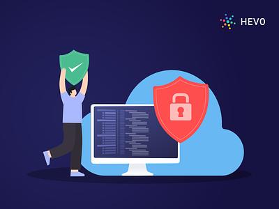 Cloud Data Security: Threats & Control Measures motion graphics graphic design ux ui vector logo typography icon illustration design branding app