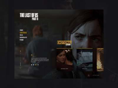 Last of Us Website Concept last of us playstation dark clean responsive animation animated video game 2020 design site website web