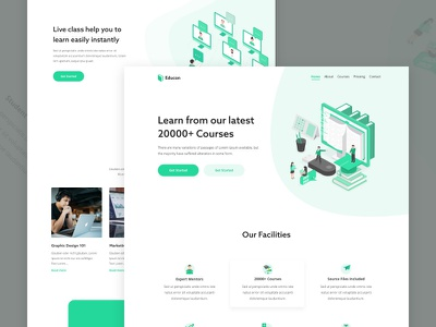 Homepage - Educon Website form element kit blockchain services contact crypto currency ux agency business finance typography app dashboard experience minimal concept user interface homepage website ui ux online course portal education landing page saas b2b product web design template