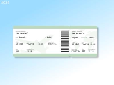Daily UI Design Challenge- #024 Boarding Pass pass airplane ticket boarding pass 024 ui daily challenge ui daily daily-ui 100daysofui