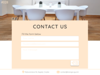 Daily UI Design Challenge- #028 Contact Us
