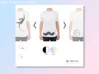 Daily UI Design Challenge- #033 Customize Product