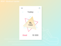 Daily UI Design Challenge- #041 Workout tracker