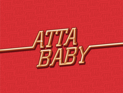 """Atta Baby"" gold type"