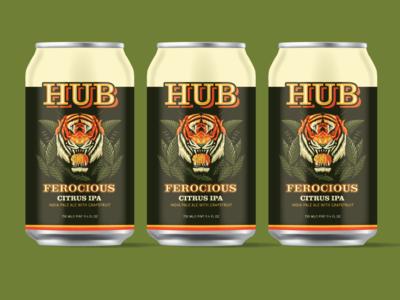 'Ferocious Citrus IPA' Packaging Concept