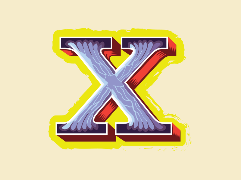 36 Days of Type -- X for Xerces (butterfly) typography butterfly letter x illustration