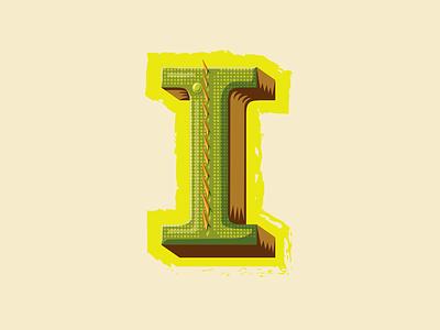 36 Days of Type — I for Iguana lettering iguana animal alphabet scales lizards 36 days of type typography type letter i illustration
