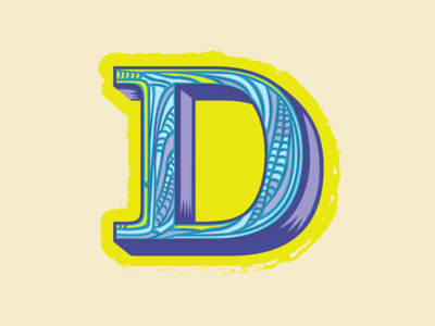 36 Days of Type — D for Dragonfly stained glass type logo 3d type branding lettering 36 days of type illustration letter d dragonfly animal alphabet