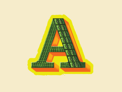 36 Days of Type — A for Alligator