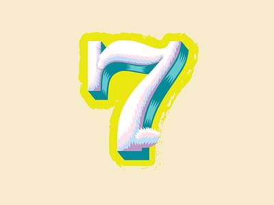 36 Days of Type — 7 for Lucky 7 🐰 lucky 7 rabbit branding illustration logos logo typography animal alphabet number 7