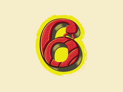 36 Days of Type — 6 for 6-legged 🐜 (fire ant) red vector 36 days of type lettering branding typography number 6 insects logos logo ants fire ant animal alphabet illustration