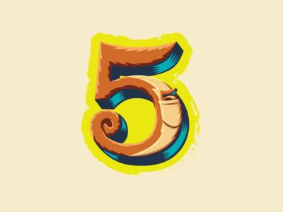 36 Days of Type — 5 for 5-legged 🦘