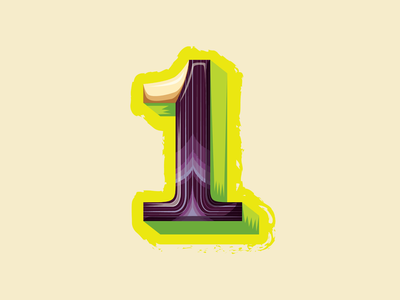 36 Days of Type — 1 for 1-footed (clam) branding lettering illustration shells clams number 1 numbers animal alphabet 36 days of type