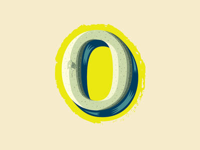 36 Days of Type — 0 for Goose Egg number 0 typography 36 days of type illustration egg goose numbers animal alphabet