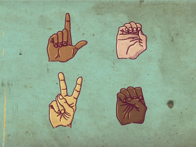 Colored Love antiracism love sign language lettering type design typography drawing vector branding illustration