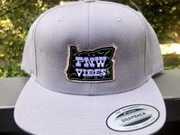 PNW Vibes -- Embroidered Hats oregon pnw lettering type design logo typography drawing vector branding illustration