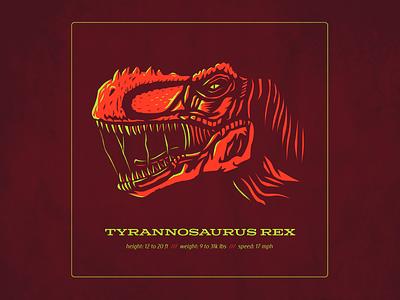Dino Series: T-Rex trex dinosaurs design logo typography drawing vector branding illustration
