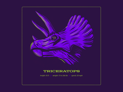 Dino Series: Triceratops dinosaur triceratops design logo typography drawing vector branding illustration
